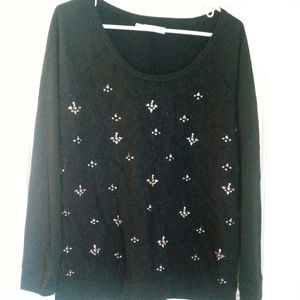 Maurices Sweaters - Maurices black long sleeve size 1 studded sweater